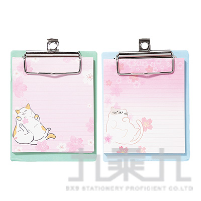 櫻花貓迷你夾板筆記 CB1908111 (款式隨機)