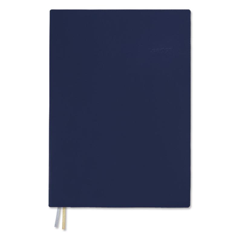A6加厚膠皮筆記(方格)-藍
