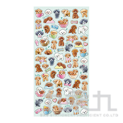 療癒動物貼紙/貴賓犬 MIND:SE78987