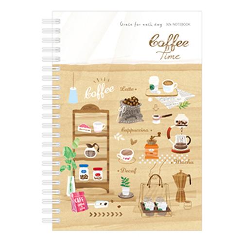 筆記空白雙圈32K-咖啡 BJC64202-03