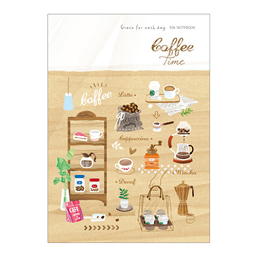 50K空白加厚筆記-咖啡 BJH5403-03