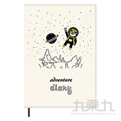 2021 32K跨年雙線圈布書衣手帳(太空-白)-貓行李