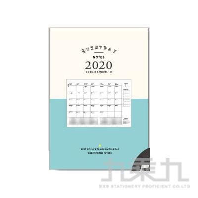 2020 50KLifeLog年度月計劃(湖綠) CDM-271B
