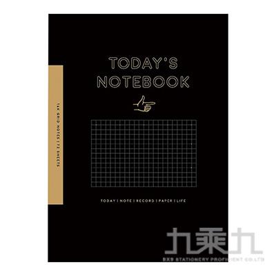 25k方格筆記書(黑色)-簡單生活 CN-2597B