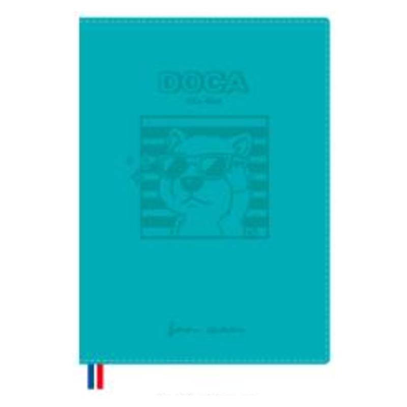 2022 32K跨年皮書衣手帳(藍色)-豆卡頻道