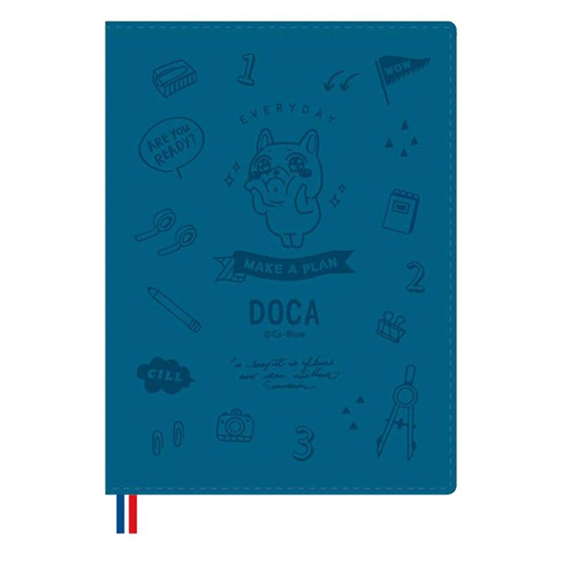 2022 50K跨年皮書衣手帳(深藍)-豆卡頻道