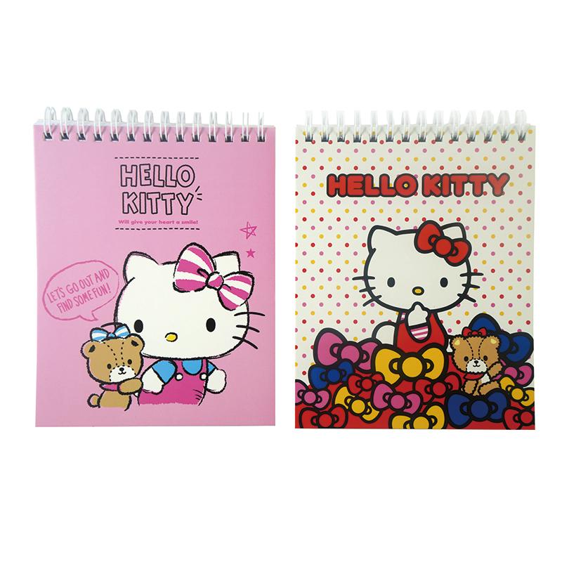Hello Kitty 雙線圈筆記畫圖冊 195450(款式隨機出貨)