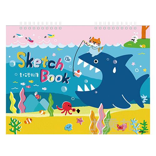 13K雙線圈剪貼簿-釣鯊 GT6018-22