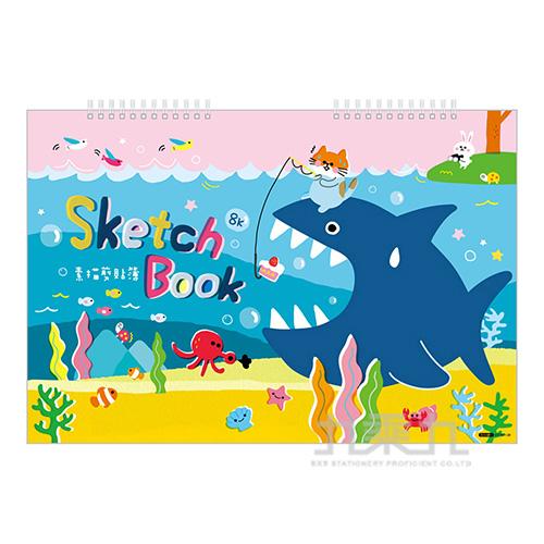 8K雙線圈剪貼簿-釣鯊 GT7501-28