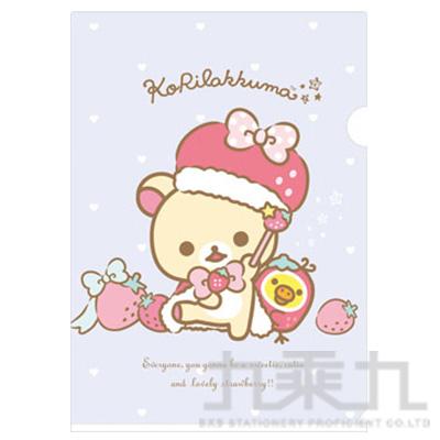 A4資料夾 BABY熊草莓帽 FY09501