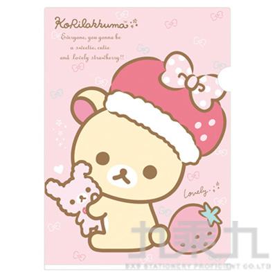 A4資料夾 BABY熊草莓帽-粉 FY09502