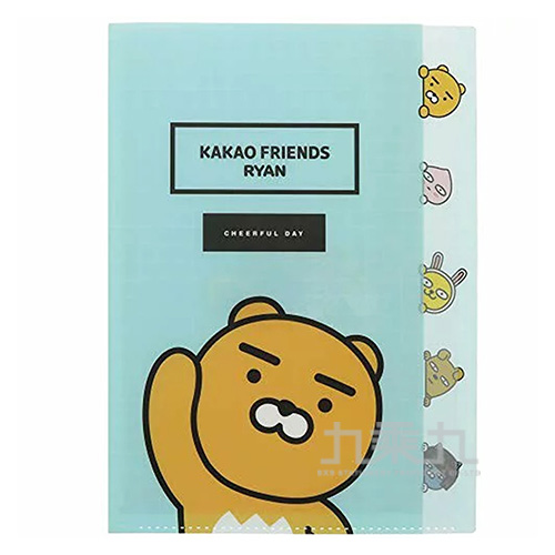 KAKAO FRIEND文件夾分頁L型A4藍色 0650727558059