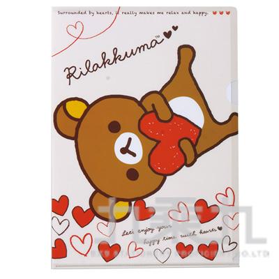 拉拉熊 L夾抱抱紅版RK10036C