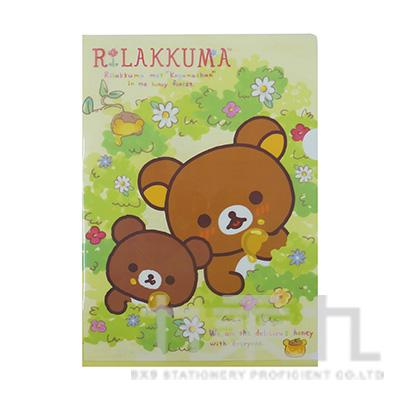 拉拉熊L型夾-茶小熊版 RK10030B