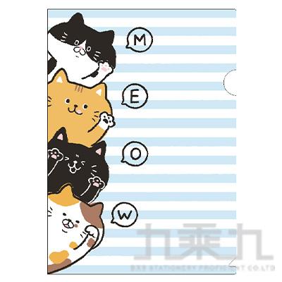 柴犬L型書夾C-貓咪