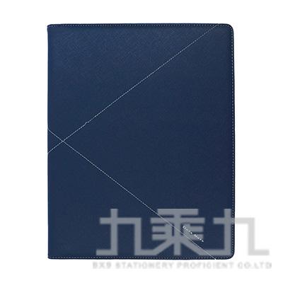 A4 3孔經理夾英倫經典-藍色  DM-953
