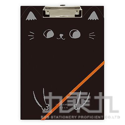 O-cat貓耳A4丹麥夾-黑