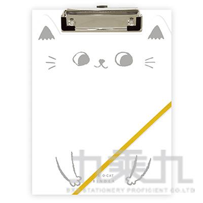 O-cat貓耳A5丹麥夾-白