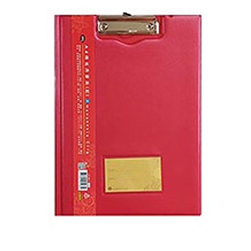 A4珠光丹麥夾(紅)