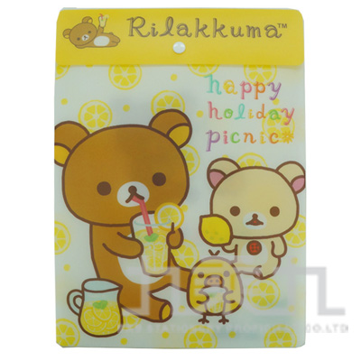 拉拉熊直式文件袋-檸檬版 RK10223B