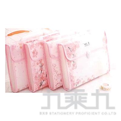 櫻花雨-A4鈕扣文件袋 A0696