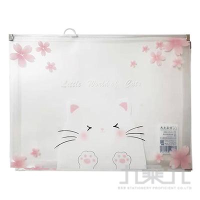貓聲貓語A4夾鍊袋 A0737(多款隨機)