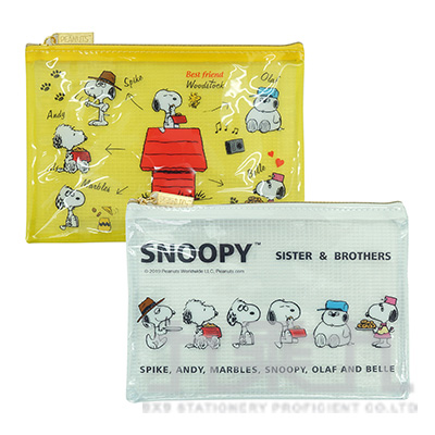 SNOOPY 歡聚系列 網狀資料袋(A6) SNZB75-1 (款式隨機)