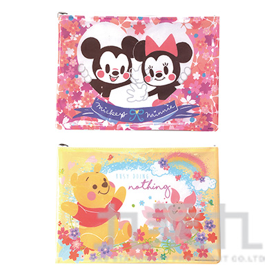 迪士尼(櫻花系)網狀資料袋(A4)