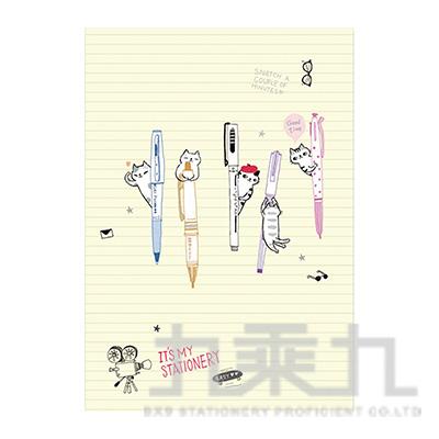 O-Cat插畫家系列細版26孔夾(米) JBN-186C