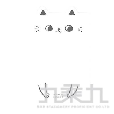 O-Cat貓耳26孔細版孔夾-白