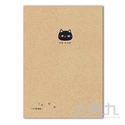 O-Cat斬型貓細版26孔夾_牛皮