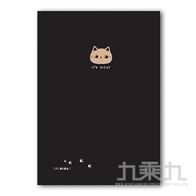 O-Cat斬型貓細版26孔夾-黑
