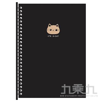O-Cat斬型貓26孔DIY封面夾-黑