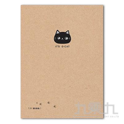 O-Cat斬型貓細版20孔夾-牛皮