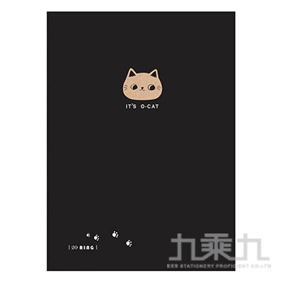 O-Cat斬型貓細版20孔夾-黑