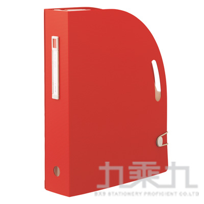 LIHIT雜誌架型風琴夾-紅F-7690-3