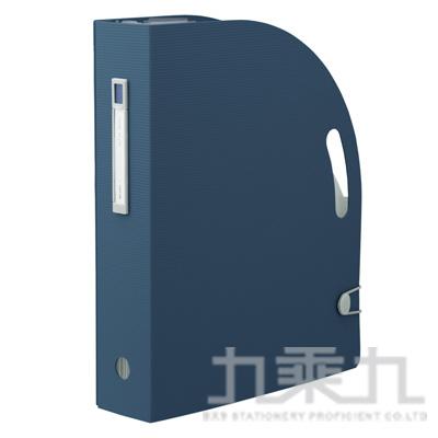 LIHIT雜誌架型風琴夾-藍F-7690-11