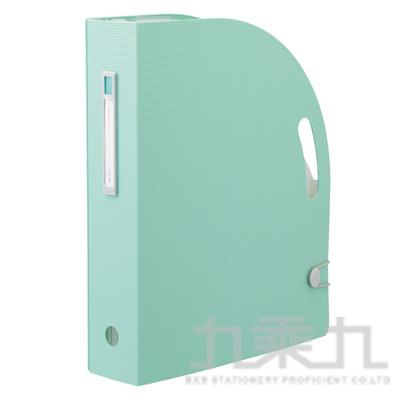 LIHIT雜誌架型風琴夾-綠F-7690-19