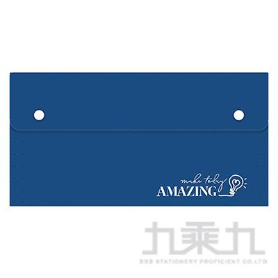 風琴夾小12層-藍燈 RB9390-02