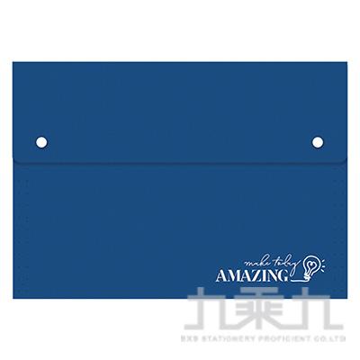 風琴夾大12層-藍燈 RB9391-02