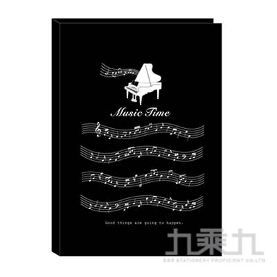 A4不反光六頁樂譜夾-黑琴 RB9405-01