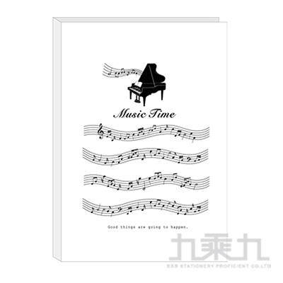 A4不反光六頁樂譜夾-白琴 RB9405-02