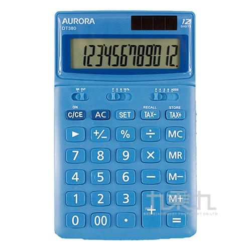 震旦12位可調稅率馬卡龍計算機DT380/藍