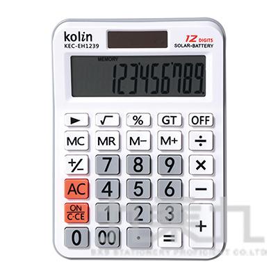 歌林12位桌上型計算機 KEC-EH1239
