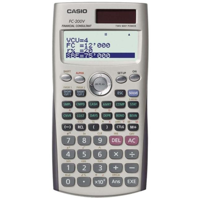 CASIO 財務計算機 FC-200V