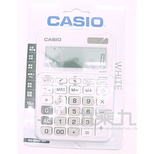 CASIO 12位元計算機 MS-20NC-WE