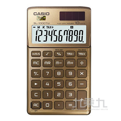 CASIO 10位元計算機 SL-1000TW(GD)