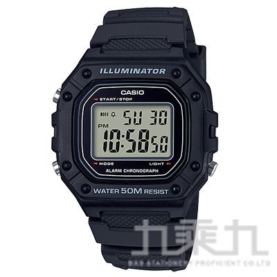 CASIO 手錶 W-218H-1AVDF