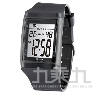 97#捷卡冷光電子錶M866-A(黑)