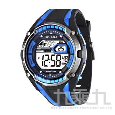 捷卡 冷光電子錶(黑藍) M980-AE
